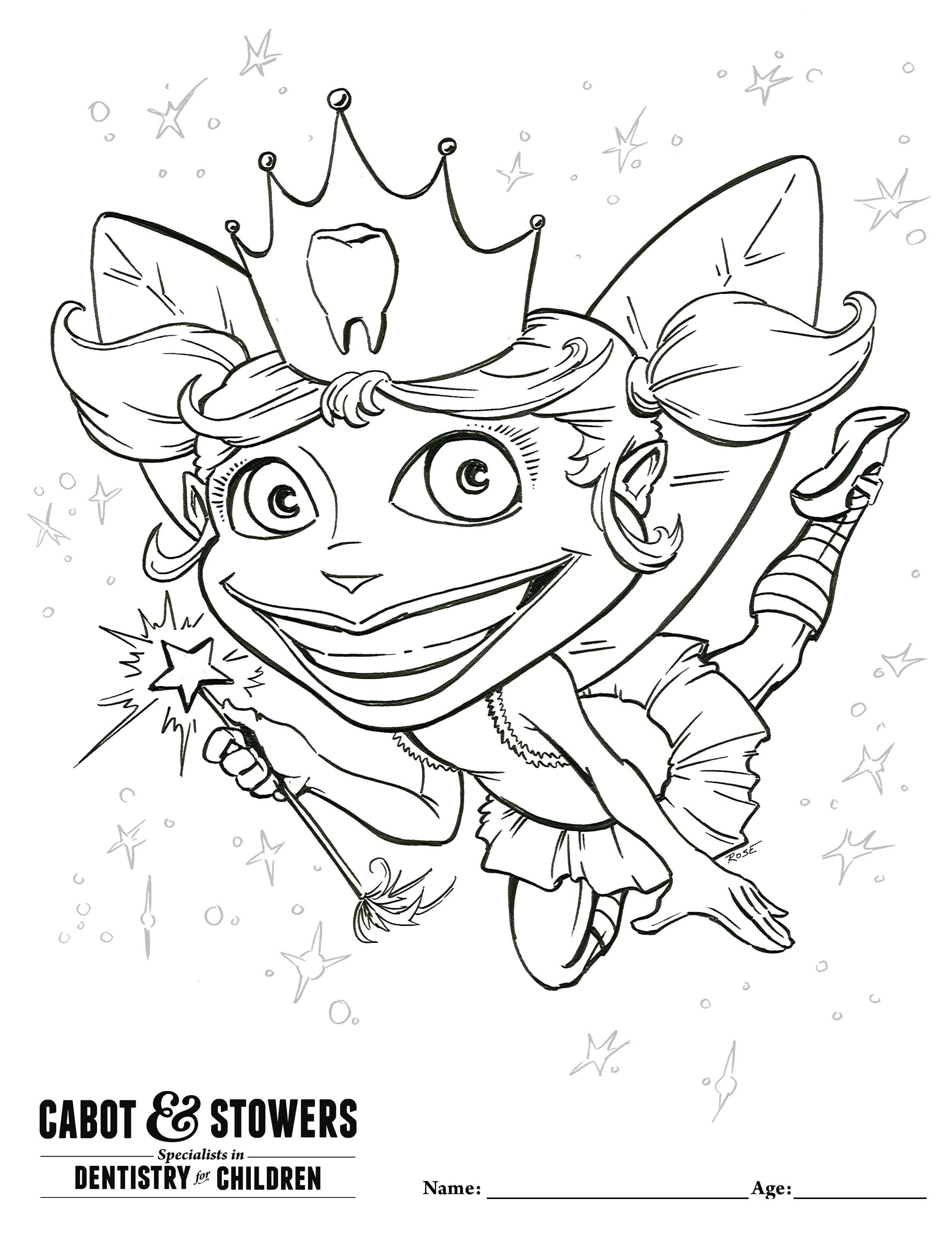 Tooth fairy drawing at getdrawings free for personal use tooth 2550x3300 national tooth fairy day spiritdancerdesigns Images