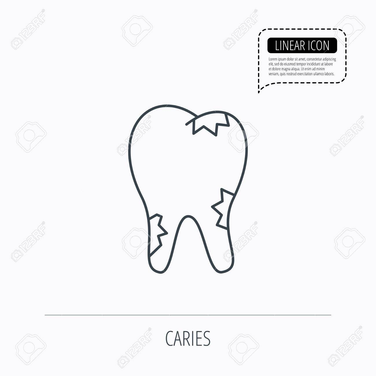 Tooth Line Drawing