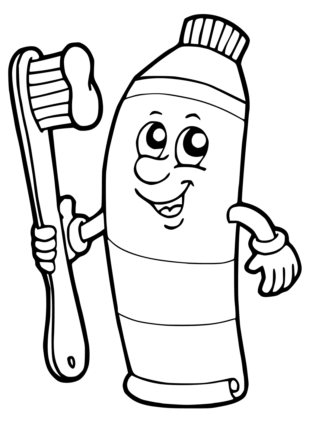 Toothbrush And Toothpaste Drawing at GetDrawings | Free ...
