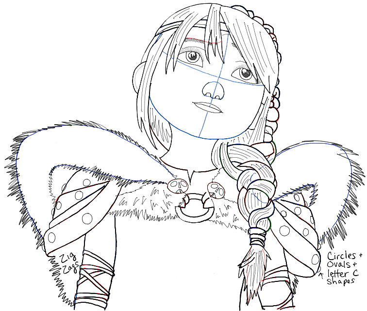 756x641 How To Draw Astrid From How To Train Your Dragon 2 In Simple Step