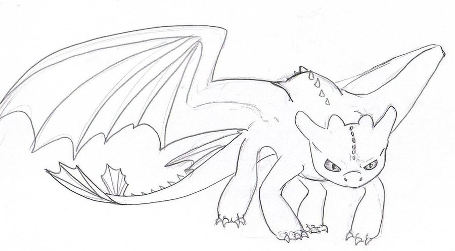 900x496 Httyd Toothless By Witchiamwill