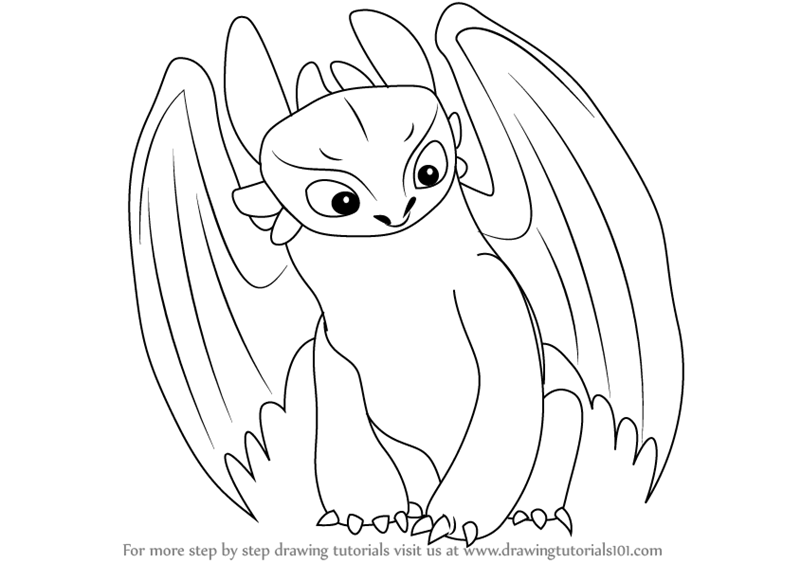 800x563 Learn How Drawothless From How Train Your Dragon (How