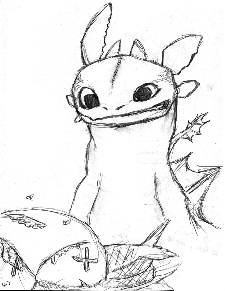 786x1016 Dragon Toothless Sketch By Hyun18