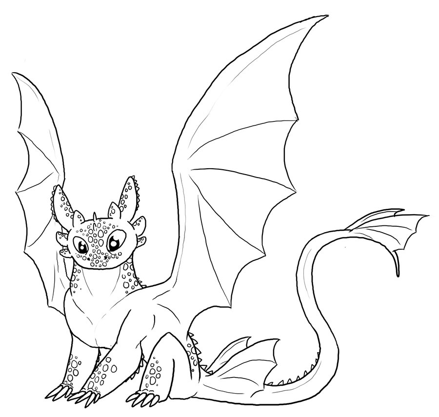 900x855 Free Toothless Lineart By Leafyful On How To Train