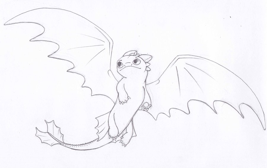 900x566 Toothless Flying Drawing Toothless Flying By Ohnezahn