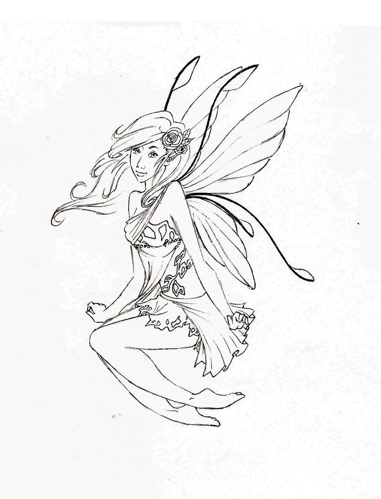 781x1022 Easy To Draw Fairy Pictures
