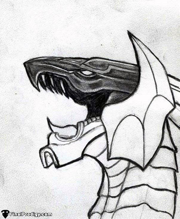 603x733 How To Draw Bahamut, Final Fantasy X