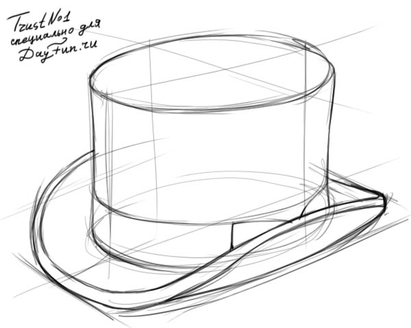 600x480 How To Draw A Top Hat Step By Step