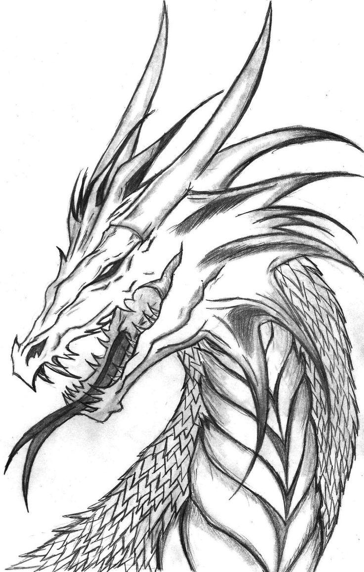 736x1154 Cool Dragon Drawing How To Draw Cool Dragons With Your Computer