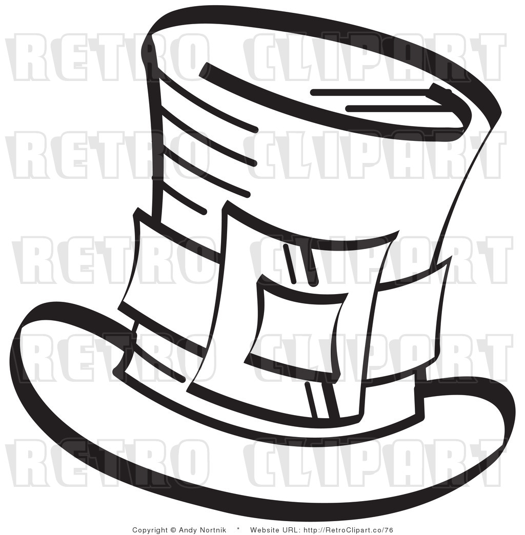 1024x1044 Royalty Free Retro Vector Clip Art Of A Leprechaun Top Hat By Andy