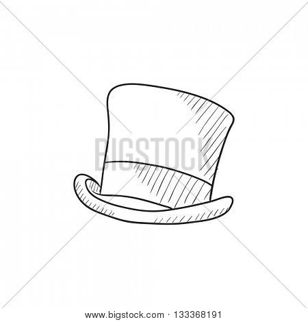 450x470 Top Hat Sketch Icon Web, Mobile Vector Amp Photo Bigstock