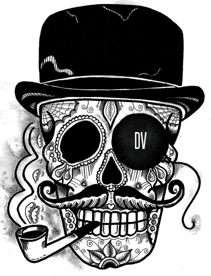 734x960 Top Hat Skeleton Skull Tattoo, Tatt And Tatting
