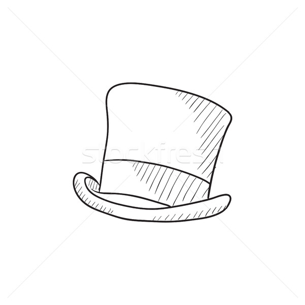 600x600 Top Hat Sketch Icon. Vector Illustration Andrei Krauchuk