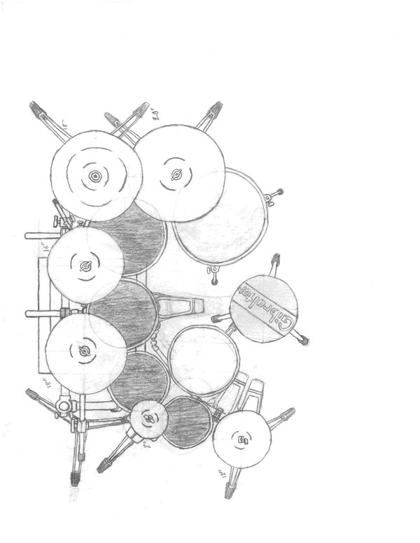 600x776 My Drums Top View