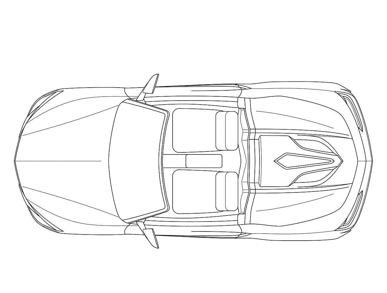 Top View Of Car Drawing