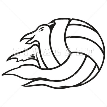 361x361 Sports Clipart Image Of Black White Tearing Torn Ripping