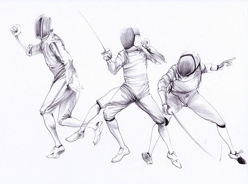 792x588 Fencing Sketches Ballpoint My Drawingssketches