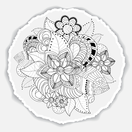 450x450 Greeting Card. Poster, Brochure Template With Oriental Flower