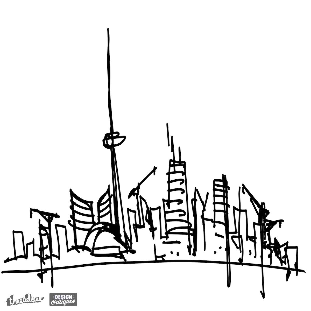 1200x1200 Score Toronto Skyline By Wearskyline On Threadless