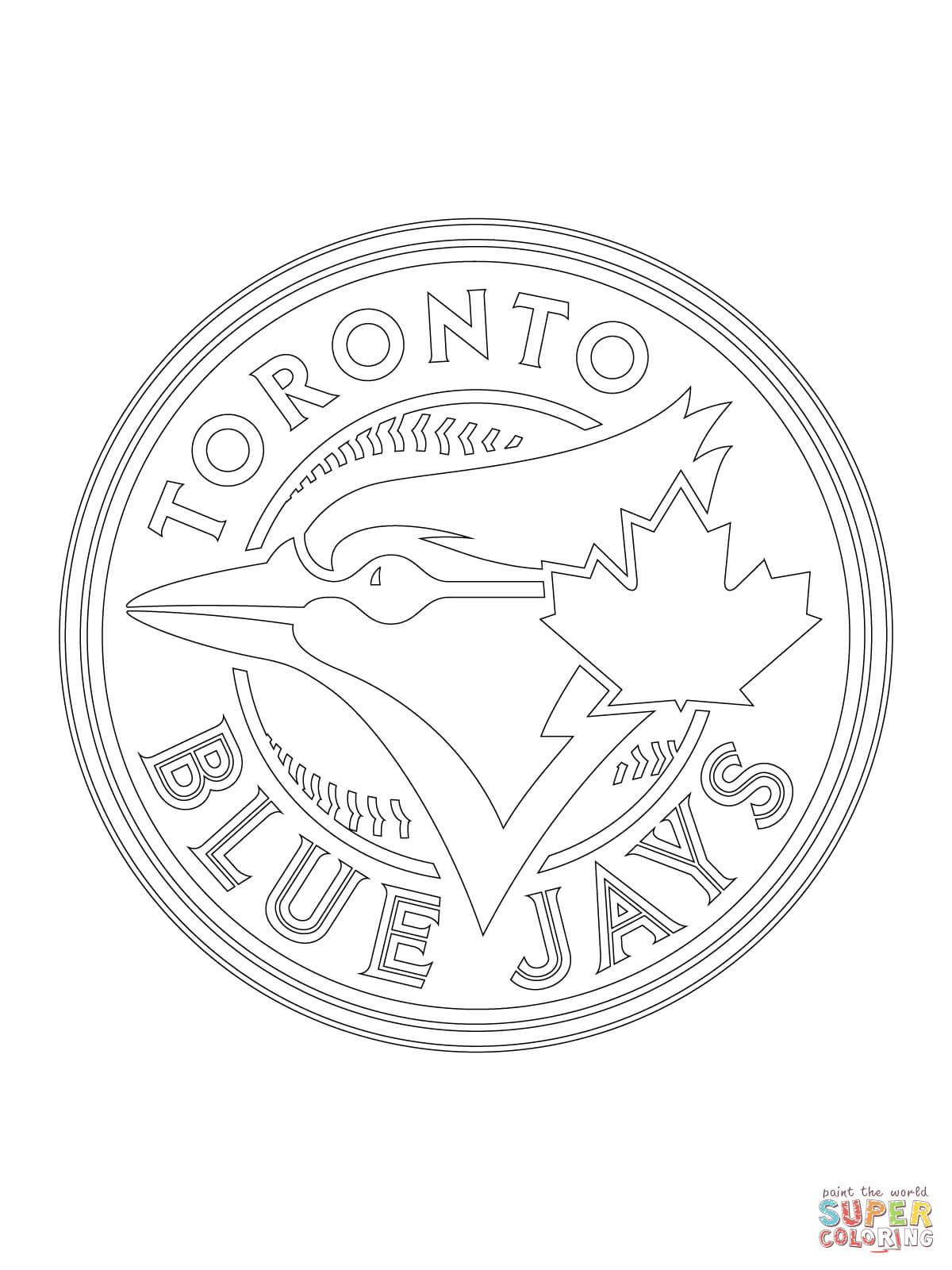 1200x1600 Toronto Blue Jays Logo Coloring Page Free Printable Coloring Pages