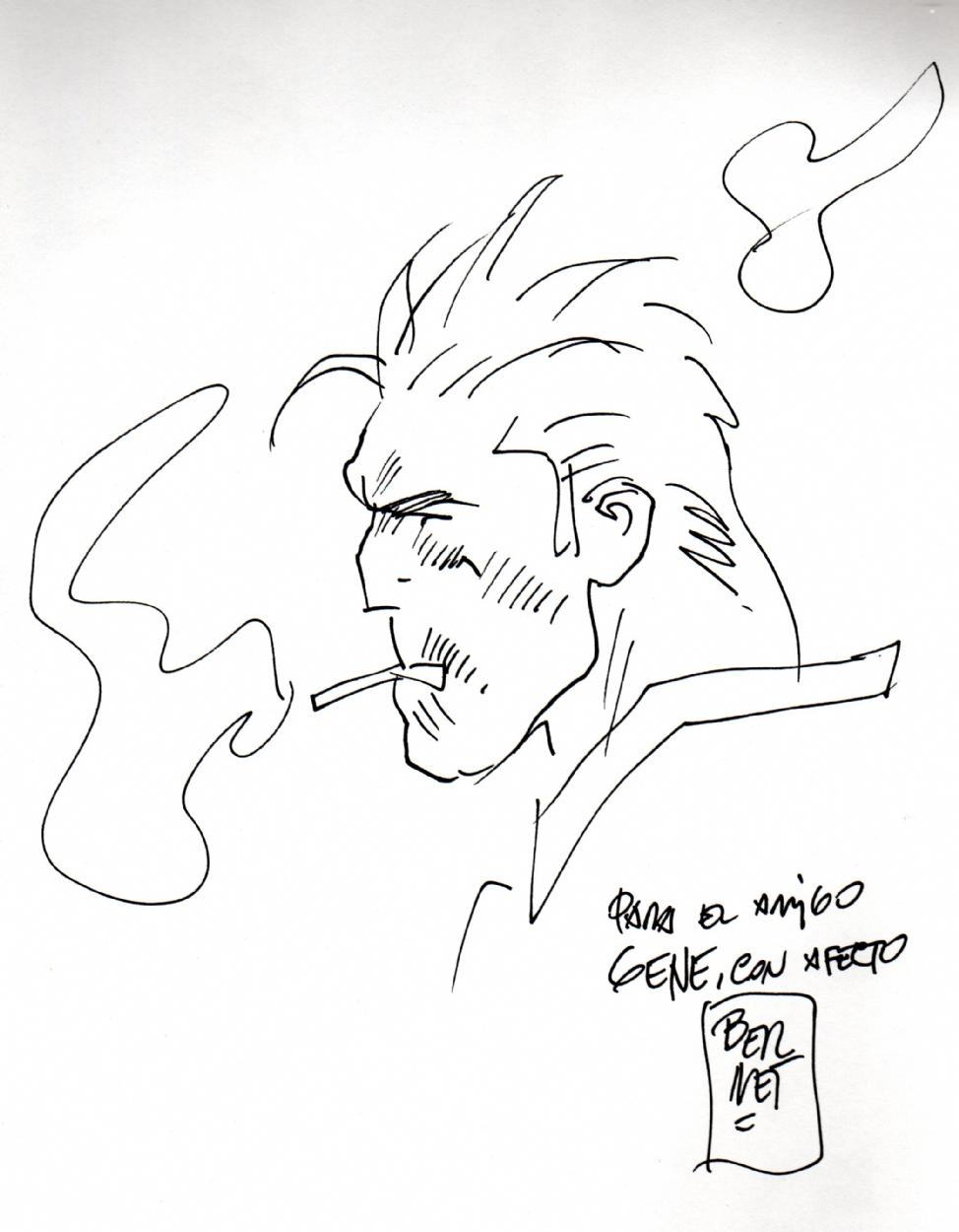 974x1250 Torpedo Sketch By Jordi Bernet, In Gene Poonyo's Ex Libris Comic