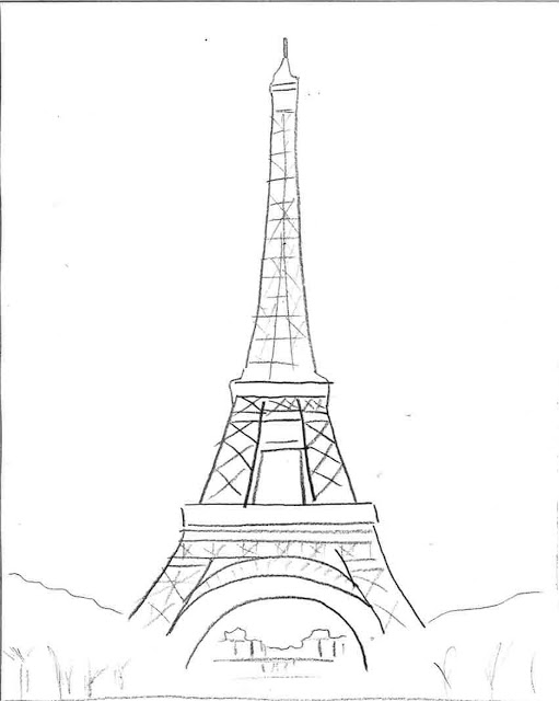 Torre Eiffel Drawing at GetDrawings.com | Free for personal use ...