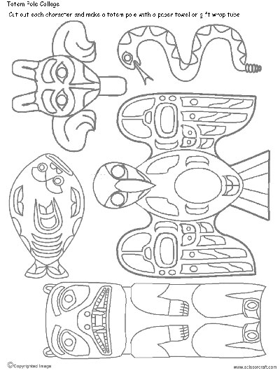 400x533 How To Draw A Totem Pole Artsmudge