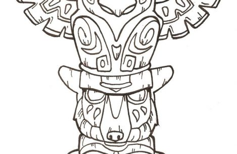 469x304 Totem Pole Coloring Pages Just Colorings