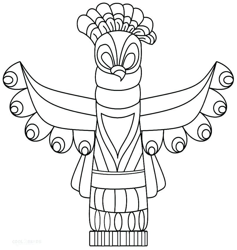 806x850 Totem Pole Coloring Pictures Joandco.co