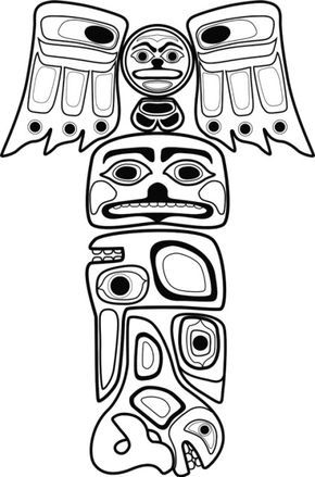 290x439 The Best Totem Pole Drawing Ideas On Totem Pole