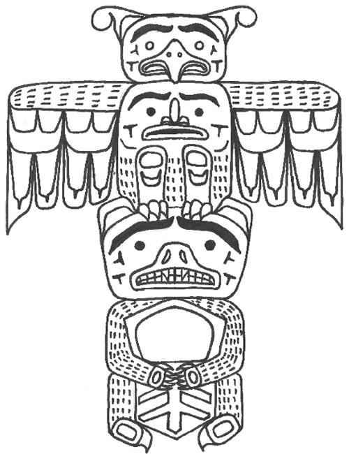 500x650 Totem Pole Templates Totem Pole Education Living Tradition