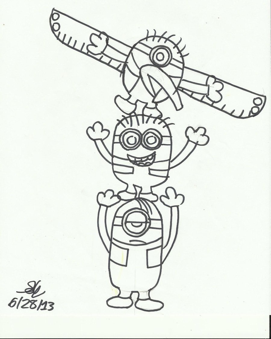 900x1126 Totem Pole Art Minion Totem Pole By Erosempai Fan Art