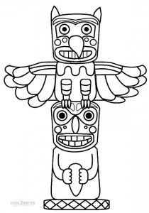 210x300 Mar 25 How To Draw A Totem Pole Totems, Totem Pole Craft