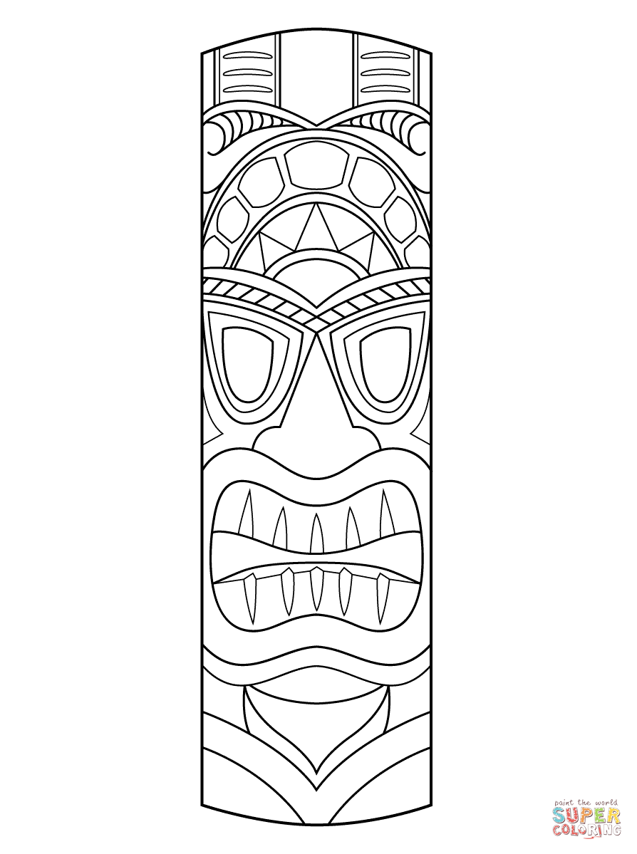 photo about Totem Pole Printable identified as Totem Poles Drawing at  Free of charge for unique