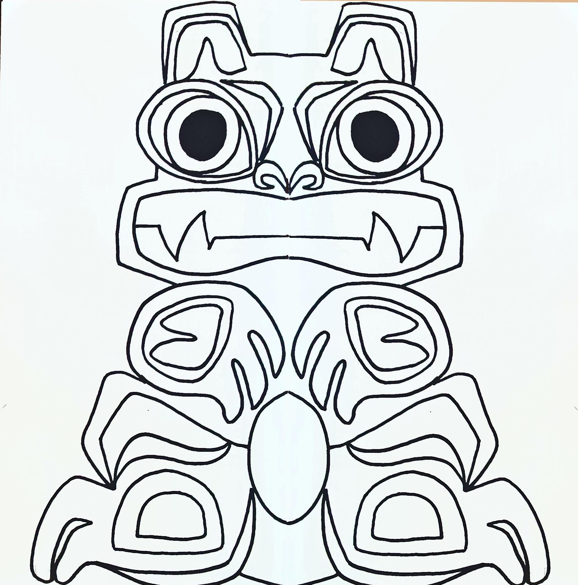 Totem Poles Drawing at GetDrawingscom Free for personal use Totem