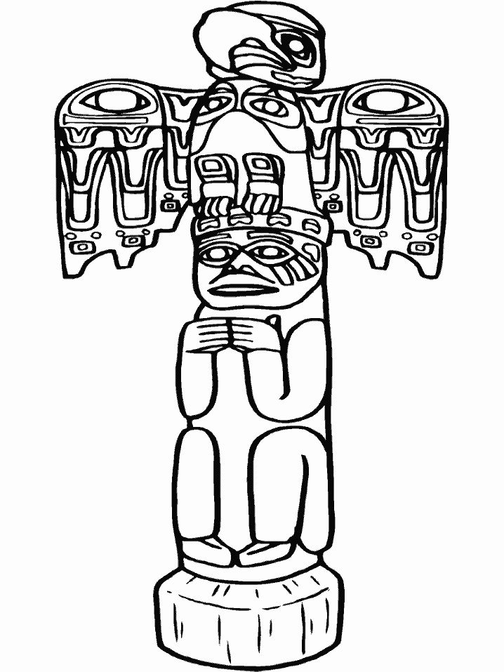 Totem Poles Drawing at GetDrawings.com | Free for personal use Totem ...