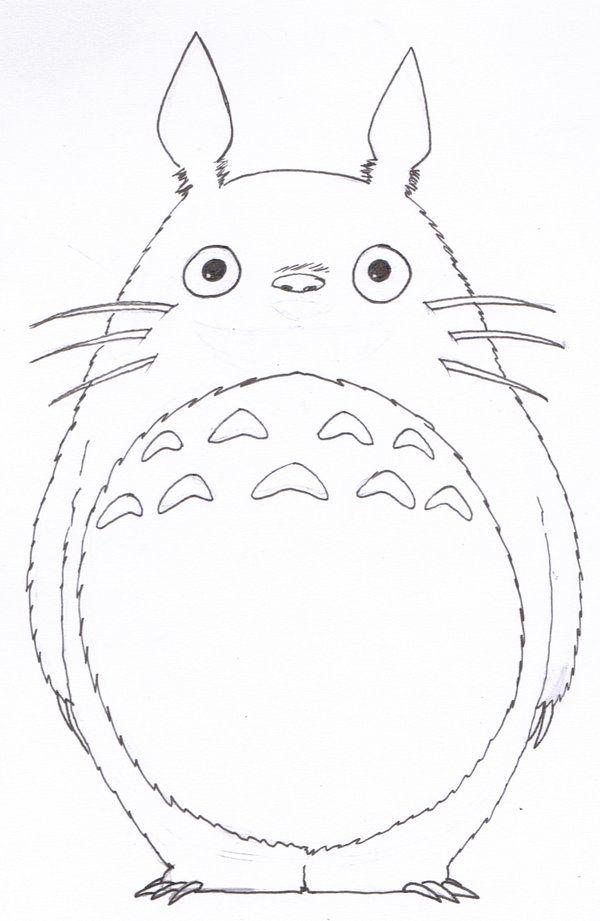 600x921 Lineart Totoro By Silveru121 On Drawing