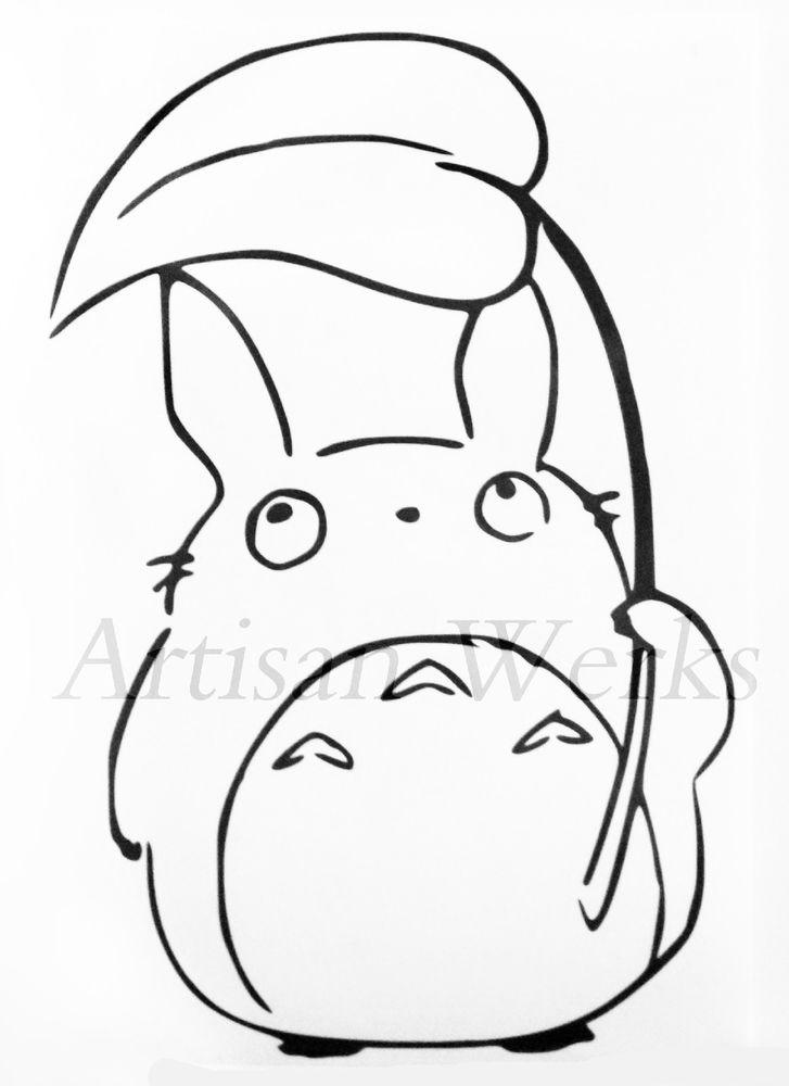 727x1000 My Neighbor Totoro Chu Totoro Decal Sticker Leaf Manga Anime Car