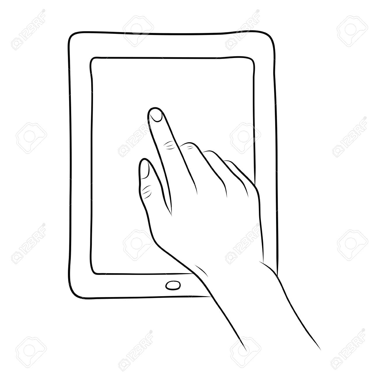 Drawing Lines With Tablet : Touch drawing at getdrawings free for personal use