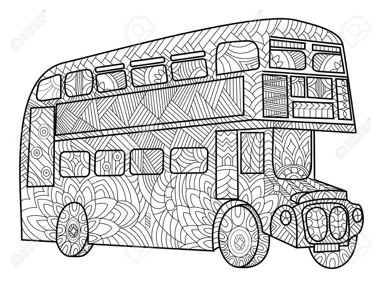 1300x975 1,321 Bus Double Decker Stock Vector Illustration And Royalty Free