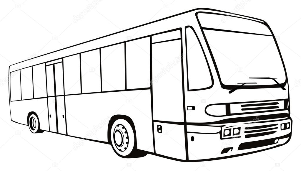1023x580 Shuttle Coach Bus Retro Stock Vector Patrimonio