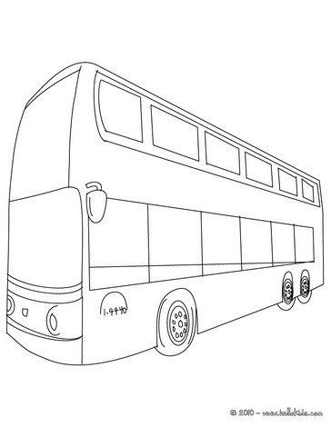 364x470 Bus Coloring Pages