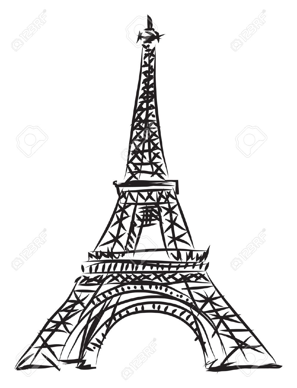 Tour Eiffel Drawing At Getdrawingscom Free For Personal Use Tour