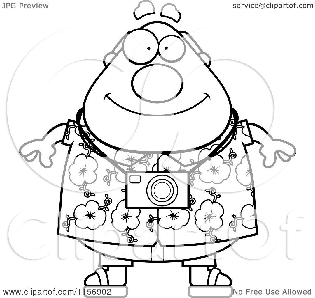 1080x1024 Cartoon Clipart Of A Black And White Tourist Man