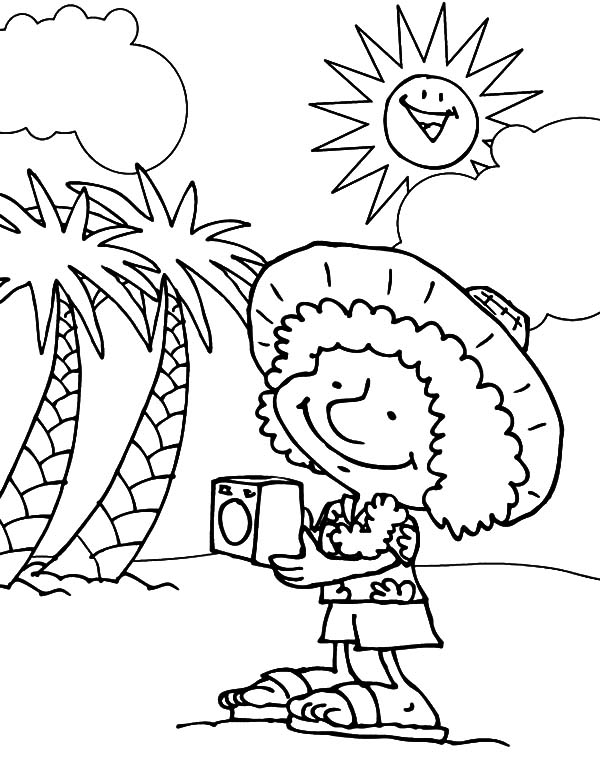 600x777 Foreign Tourist Hawaii Coloring Pages Foreign Tourist