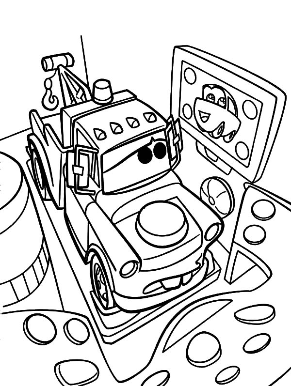 600x797 Drawing Tow Mater Coloring Pages Drawing Tow Mater Coloring Pages