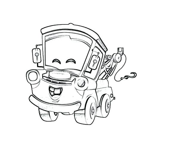600x500 Tow Mater Coloring Pages From Mater Tall Tales Coloring Page