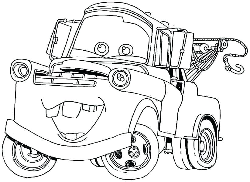 823x600 Mater Coloring Pages To Print Mater Coloring Pages For Coloring