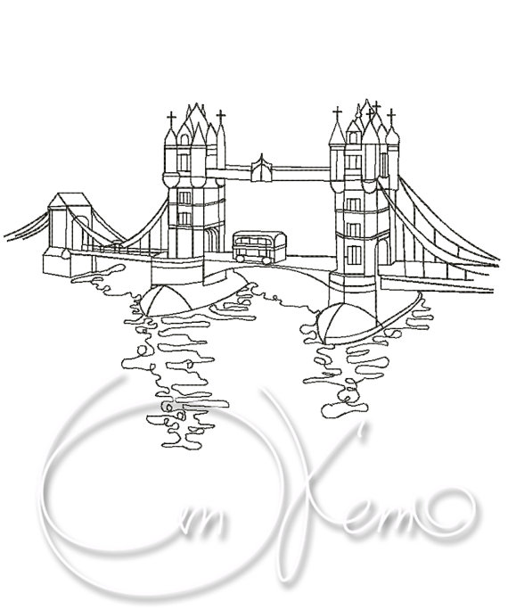 570x684 Machine Embroidery Design Tower Bridge Embroidery London