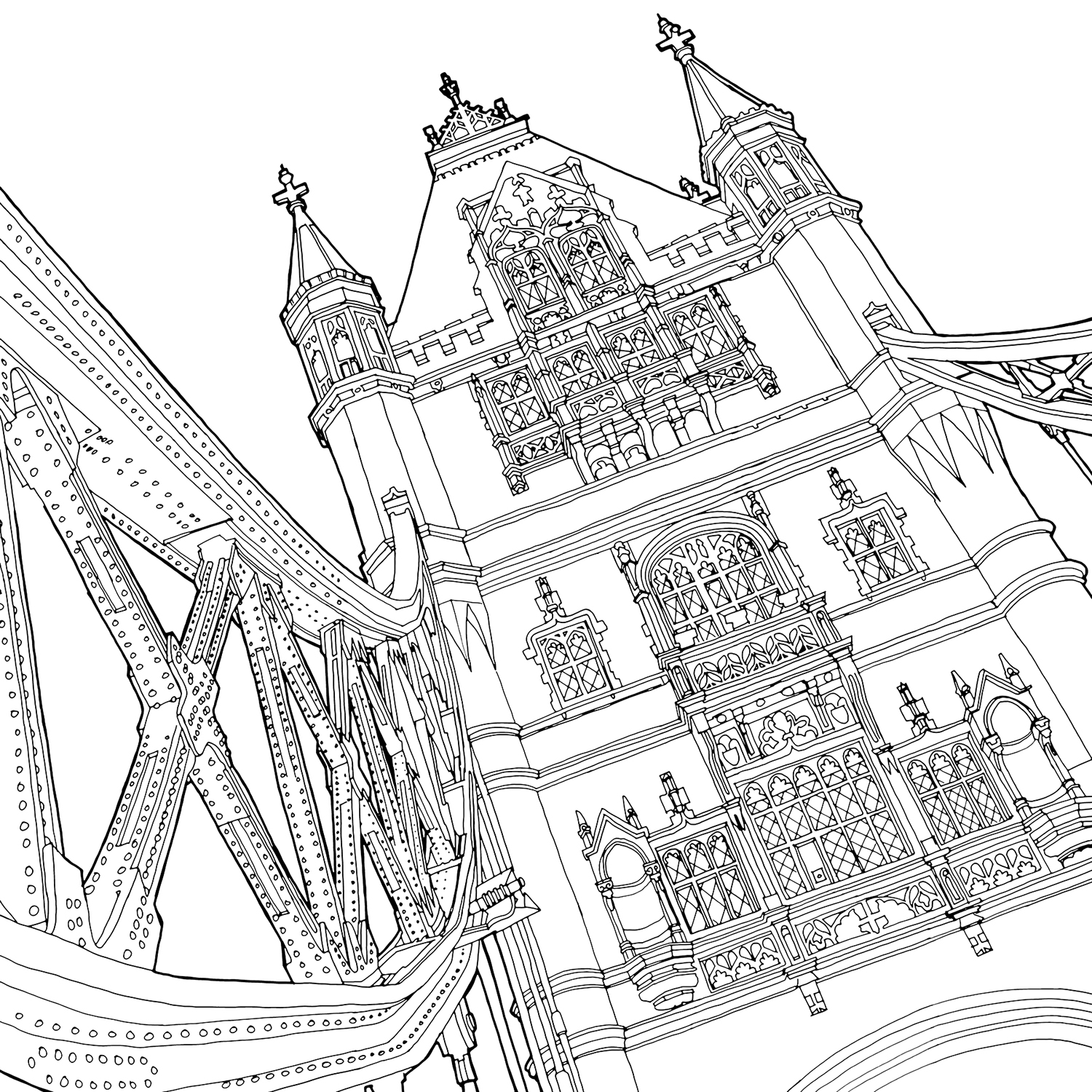 1500x1500 Stunning New Coloring Book Shines A Light On Global Architecture